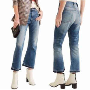 Rag & Bone Vintage Crop Flare Released Hem Jeans